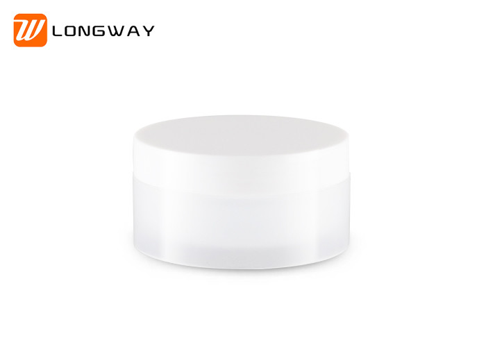Various Capacity Plastic Cosmetic Jars With Lids Round Shaped ISO9001 Approval